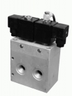 5/2, 5/3 solenoid and 5/3 pneumatic pilot operated valves