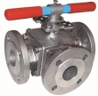 3-way Ball Valve Flanged ISO PN 16